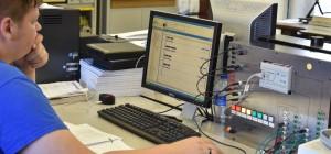 EM Student Programming a PLC